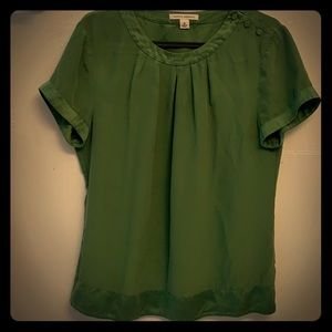 Gorgeous green silk BR blouse